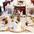 Festively set table - Stock Photo