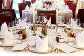 Festively set table — Stock Photo