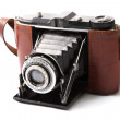 Antique, old photo camera - Stock Photo