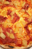 Pizza - pineapple, ham, salami — 图库照片