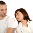 Young couple fights. — Stock Photo