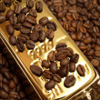 Royalty-Free Stock Photo: Gold coffee