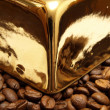 Gold coffee — Stock Photo