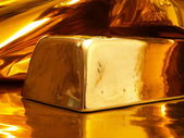 Gold ingot — Stock Photo