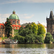 Panoramic view on old part of Prague.. - Stock Photo