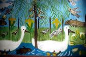 Kuşlar ve balıklar — Stok fotoğraf