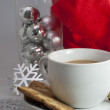 Stock Photo: Cup with Christmas decorations