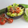 Salad with tomato cucumber cabbage — Stock Photo #1555633