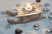Toy sledge decoration — Foto Stock