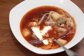 """Ukrainian soup """"borsch"""" — Stock Photo"""