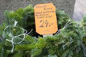 Vánoční zelená rámec — Stock fotografie