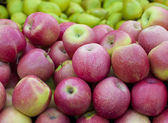 Apples and pears Full Frame — Stock Photo