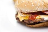 Close-up Cheeseburger — Stock Photo