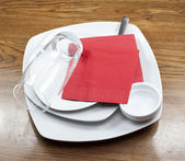 Set of dishes — Stock Photo