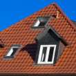 Red tiled roof under blue sky — Stock Photo #2322285