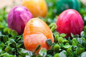 Eastern - colored eggs — Stock Photo