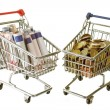Two trolleys — Stock Photo