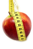 Apple with tape measure — Stock Photo