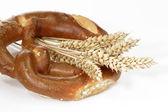 Pretzel with crop — Stock Photo