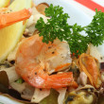 Seafood dinner — Stock Photo
