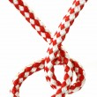 Stock Photo: Red and white Rope