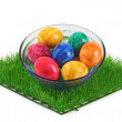 Stock Photo: colorful eggs