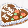 Gingerbread heart_1 — Stock Photo