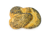 Poppy seed bread roll — Stock Photo