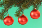 Red chrismas balls — Stock Photo