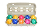 Colores teñidos huevos de pascua — Foto de Stock
