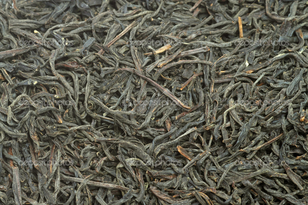 Dried black tea food background texture. Shot in studio  Stock Photo #1551601