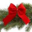 Stock Photo: Red gift ribbon
