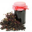 Elderberry marmelade — Stock Photo