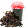 Elderberry marmelade - Stock Photo