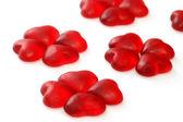 Wine gum hearts — Stock Photo