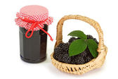 Blackberry marmalade — Stock Photo