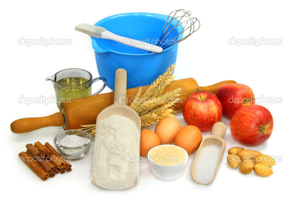 Baking ingredients on bright background — Stock Photo #1563195