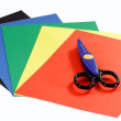 Colored construction paper — Stock Photo #1577491