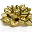 Golden Gift Bow — Stock Photo