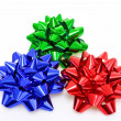 Three colurful Gift Bows — Stock Photo