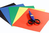Colored construction paper — Stock Photo
