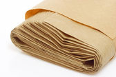 Rolled paper bag — Stock Photo