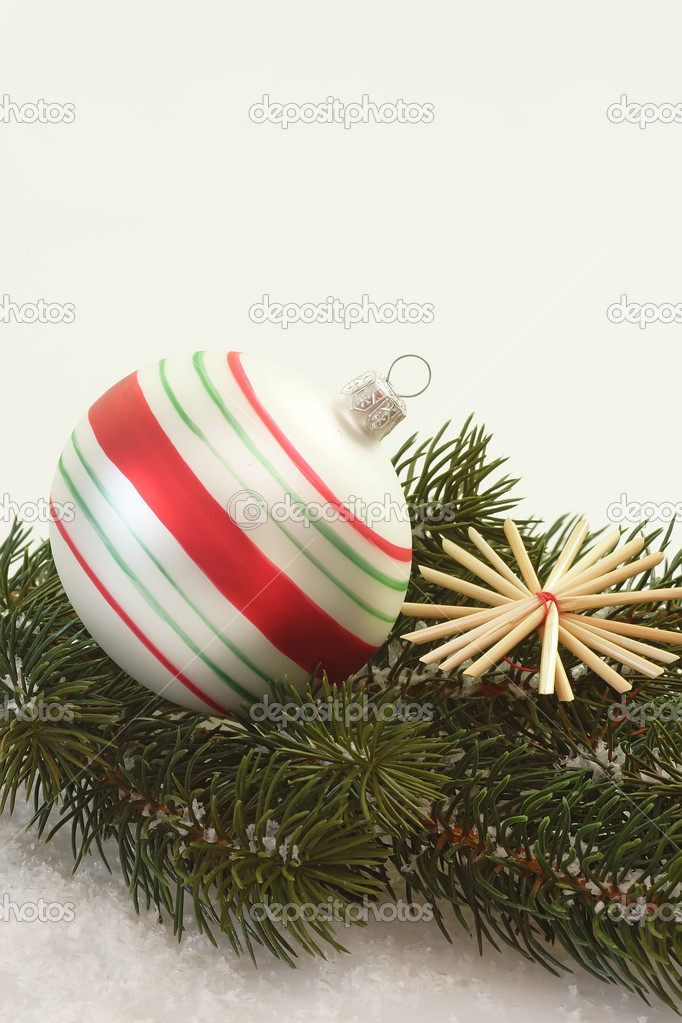 Christmas decoration on bright background — Stock Photo #1576421
