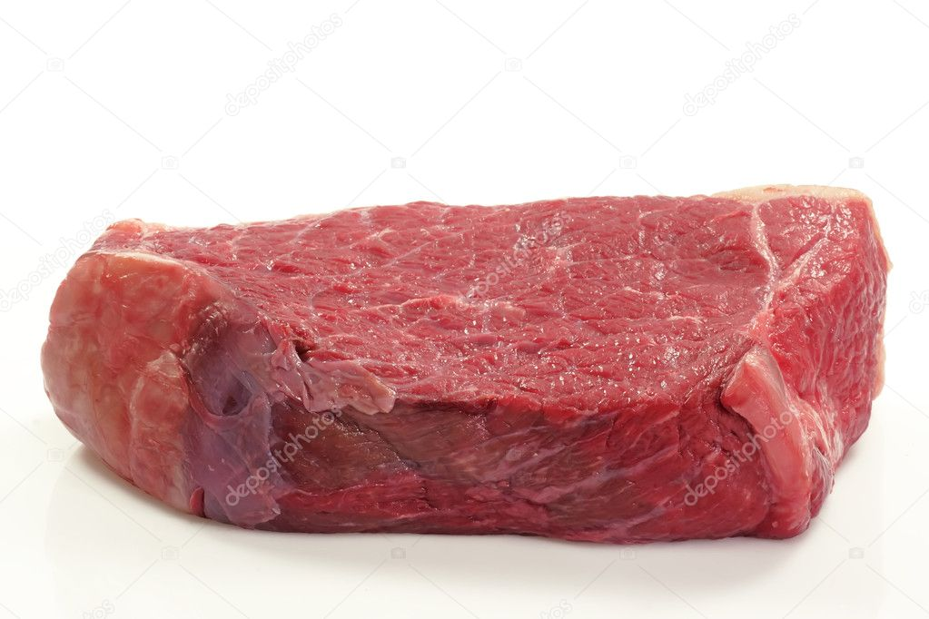Fresh beef meat on bright background — Stock Photo #1577394