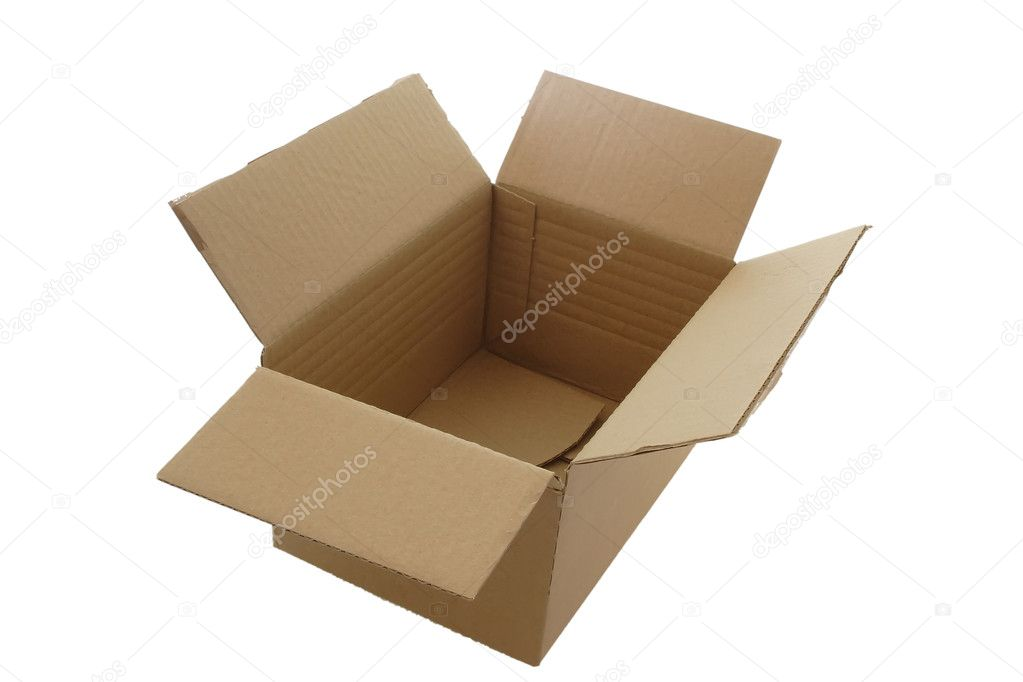Carton box, isolated on white background, with clipping path  Stock Photo #1579175