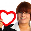 Heart woman — Stock Photo