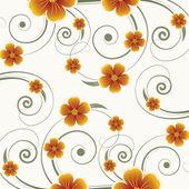 Blommig abstrakt bakgrund — Stockvektor