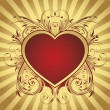 Royalty-Free Stock Векторное изображение: Background with heart for valentine day