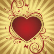 Royalty-Free Stock Vektorgrafik: Background with heart for valentine day