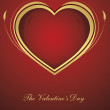 Background with heart for valentine day - Imagen vectorial